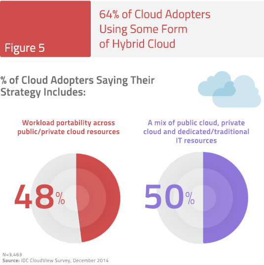 Figure 5: 64% of Cloud Adopters Using Some Form of Hybrid Cloud